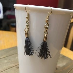 3 for $25 Handmade Gold & Gray Tassel Earrings
